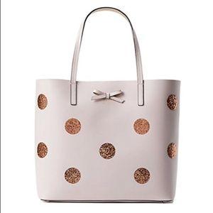 KATE SPADE Dewey Street Len Glitter Dot Tote Bag